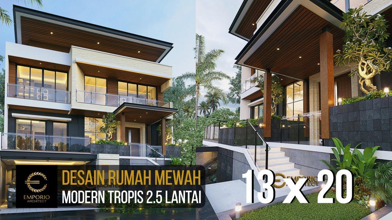 Video 3D Mr. Atang Modern House 2.5 Floors Design - Bandung, Jawa Barat