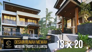Video Desain Rumah Modern 2.5 Lantai Bapak Atang di  Bandung, Jawa Barat