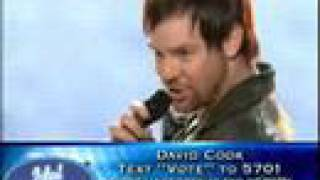 """TOP 4 - David Cook- """"Hungry Like The Wolf"""" - May/6/2008"""