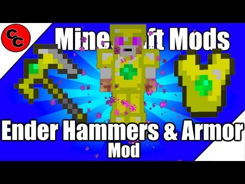 "Minecraft Mods: "" Ender Hammers & Armor Mod 1.11.2"""