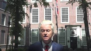 Wilders statement in solidarity with Tommy Robinson in front of British Embassy in The Hague