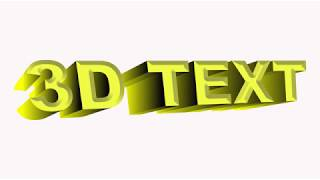 How to make 3D Text in Corel Draw