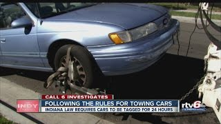 CALL 6: Following the rules for towing cars
