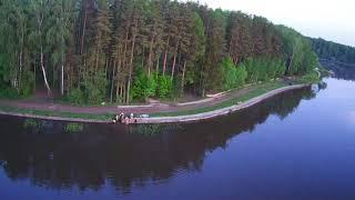 Вечер в Лыщево. Истринское водохранилище. hubsan h501s pro.