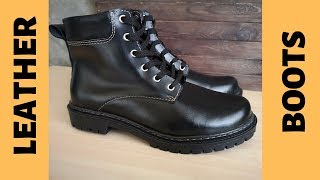 Leather Boots For Men By Handmade. Leather Craft And Diy
