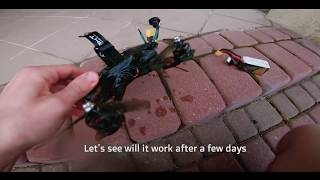 FPV drone crash into water | 5th time flying