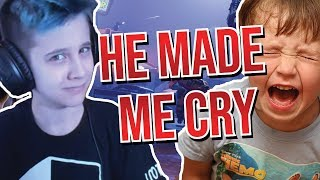 I made a kid cry in Fortnite Battle Royale...