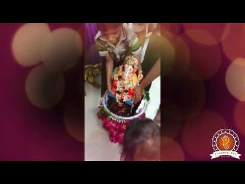 Kinnary Kapadia Home Ganpati Decoration Video