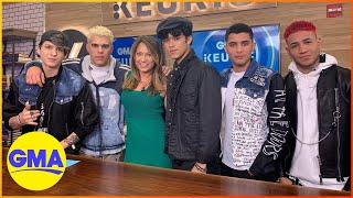 CNCO Hanging Out at Good Morning America
