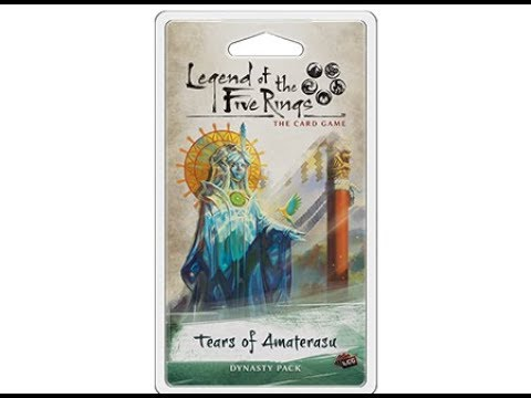 Unboxing – Tears Of Amaterasu Dynasty Pack (L5R, Legend of the five rings)