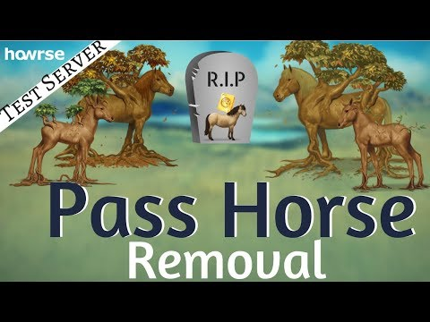 Pass Horse Removal- Howrse Test Server(Preprod)