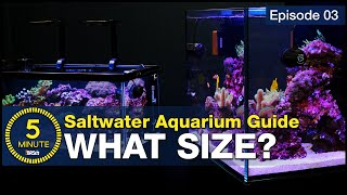 The secret to selecting the right size and shape for your first saltwater aquarium. Choose wisely!
