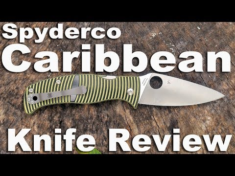 Spyderco Caribbean Rust Free Pocket Knife Review.  OMG A PARA MILITARY 2 KILLA?
