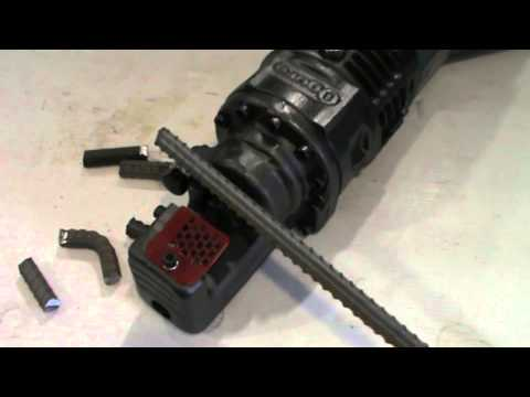 Ogura HBC-613 Electric Hydraulic Rebar Cutter Demonstration