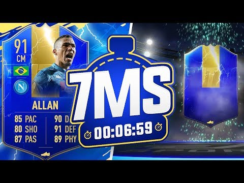 TOTS 91 ALLAN 7 MINUTE SQUAD BUILDER VS ANDY!! - FIFA 19 ULTIMATE TEAM