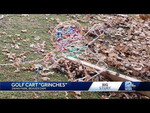 Golf cart grinches in Beaver Dam