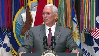 Vice President Pence Hosts Honor Flight Veterans. National military appreciation month 2017
