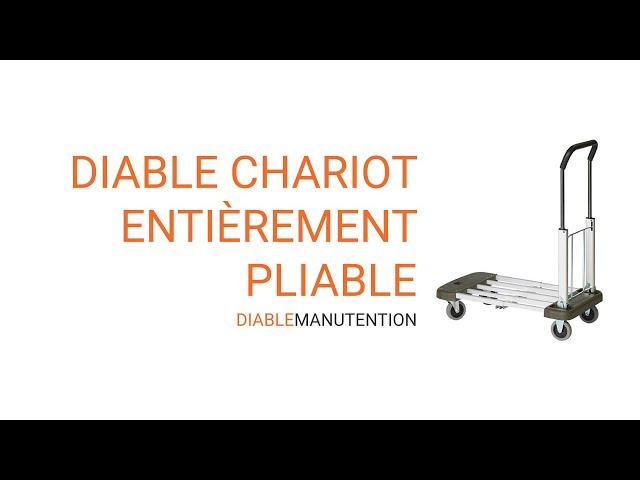 video présentation diable chariot pliable