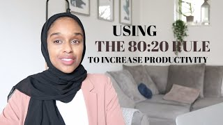 How To Apply The 80/20 Rule & Instantly Increase Productivity | Work Less Achieve More