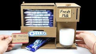 Wow! Amazing DIY OREO and Fresh Milk Vending Machine