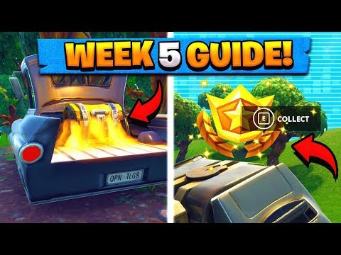 WEEK 5 CHALLENGES GUIDE! | GRAVITY STONES Locations, Treasure Map! ( Fortnite Tips )