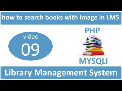 how to search books with image in LMS in PHP