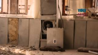 preview picture of video 'Syrian army forces hit mosque in Syria's Idlib'