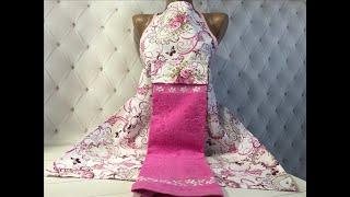 Фартук кухонный с полотенцем. Белое махровое полотенце на пуговичках. Турция. от компании Euro texti VIP - видео