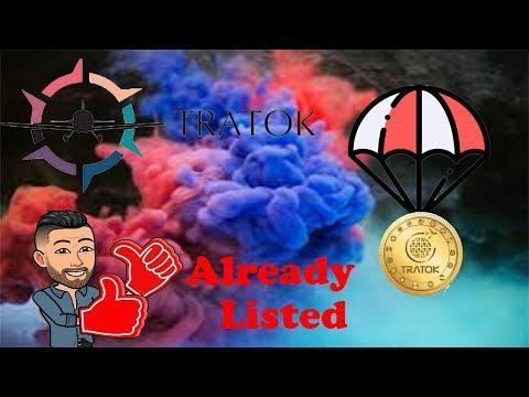 🔴JÁ LISTADO🔴Ganhe 7,000 TRAT no excelente Airdrop Tratok !