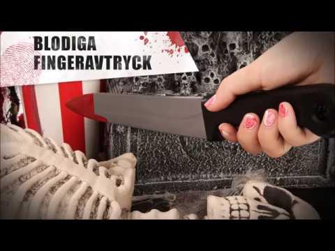 Blodiga fingeravtryck - Halloween nailart