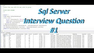 Select Rows With Max Value By Group SQL Interview Question