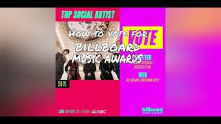 tutorial on how to vote for BBMA top social