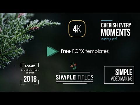 WEDDING TITLES Update V 1 - FCPX Templates - смотреть онлайн