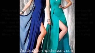 A Line Sweetheart Empire Beaded Floor Length Purple Chiffon Formal Dress