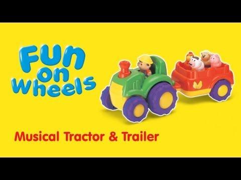 Музыкальный трактор с прицепом