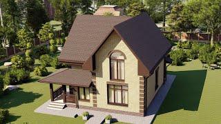 Проект дома 119-A, Площадь дома: 119 м2, Размер дома:  9x12,8 м