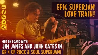 """SuperJam 2013: """"Love Train"""" Performed by John Oates and Bilal and """"Use Me"""" 