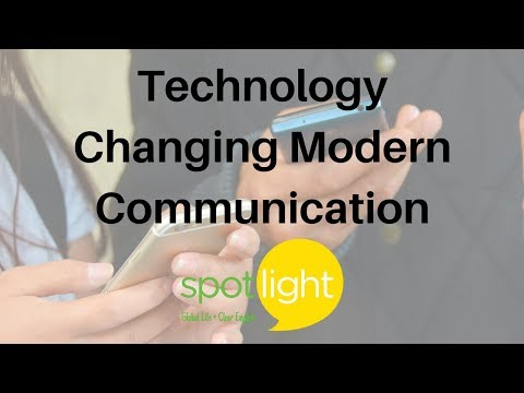 Technology Changing Modern Communication | practice English with Spotlight