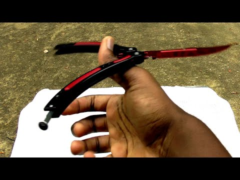 $40 CS:Go butterfly knife (trainer) [Full Review] (60fps)
