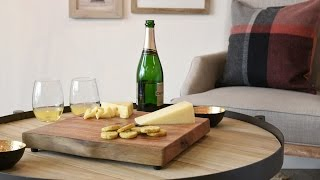 Woodwaves Entertaining Ideas: Wine And Cheese,  Glasses, Serving Boards, Trays, Accessories