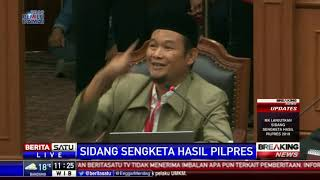 Komisioner KPU Viryan Aziz Dalami Keterangan Saksi BPN Prabowo-Sandi