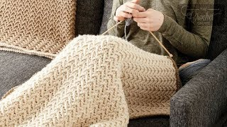 Crochet Arrow Stitch Blanket Pattern