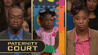 Johnson/Mciver v. Davenport: A Georgia man and his new fiancée dispute the paternity of his ex-girlfriend's three-year-old daughter.  Subscribe: https://bit.ly/PaternityCourtYT   Follow Paternity Court on Social Media: Facebook: https://www.facebook.com/PaternityCourt/ Twitter: https://twitter.com/PaternityCourt Instagram: @PaternityCourtTV  Follow MGM Television on Social Media: Facebook: https://www.facebook.com/MGMTelevision Twitter: https://twitter.com/MGMTelevision  Instagram: @MGM_Television  Woman Claims Two Men As Baby's Father (Full Episode) | Paternity Court https://youtu.be/Iv6o6INWn7Y  #PaternityCourt #LaurenLake  Season 6, Episode 14