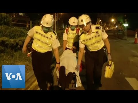 Hong Kong Protesters Evacuated From University by Medics