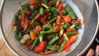 Куриная грудка с Овощным рагу из замороженных овощей с картофелем,молодой фасолью( vegetable ragout)