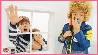뽀로로 짜장면 도둑과 경찰 숨바꼭질 놀이! 주방놀이 요리놀이 장난감 놀이 Pororo Noodle pretend play with kids toys