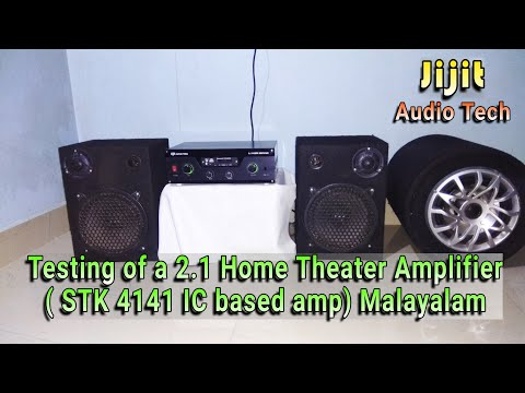 Testing of a 2 1 Home Theater Amplifier ( Based on STK 4141