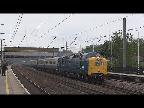Deltic D9009 'Alycidon' speeds through Arlesey with 'The Hul…