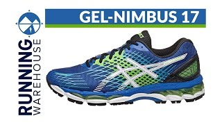 Asics GEL Nimbus 17 Men's Running Shoes Black / Orange video