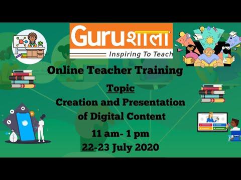 Online Teacher Training on Creation and Presentation of Digital ...